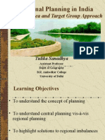 Regional Planning in India a Target Area and Target Group Approach by Tulika Sanadhya