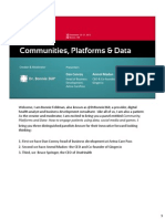 Communities, Platforms & Data- How to Engage Patients Using Data, Social Media and Games