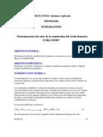 Determinacion Calor Combustion Acido Benzoico