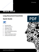 Long Document Essentials Quick Guide R04