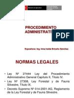 Forestal y Fauna Procedimiento Administrativo