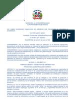 Ley No. 292 de 1966, sobre sociedades financieras que promueven el desarrollo económico
