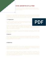 Almacene Archivos en La Web