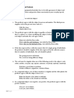 Agreement Between Subject and Predicate (First)