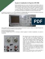 Guía de referencia rápida para el Analizador de Espectro HP 3582