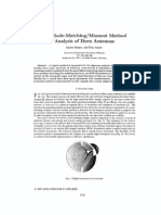 FE or Mode Matching Moment Method Analysis of Horn Ant