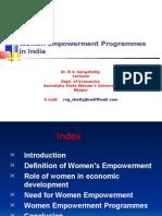 Women Empowerment Programmes in India by Gangshetty