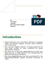 Digital Libraries by HD Gopal