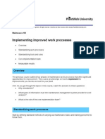 Implementing Improved Work Processes