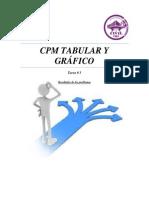 CPM Tabular y Gráfico tarea 3 presentacion