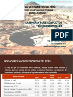 La minería y los clonflictos sociambientales, Arequipa, nov 2011
