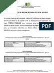 NOVOS PRAZOS DE INSCRIÇÃO PARA O EDITAL 052 2013