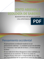 PENSAMIENTO ABISMAL Y ECOLOGÍA DE SABERES