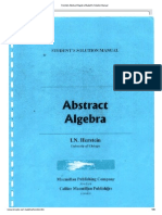 Herstein Abstract Algebra Student's Solution Manual