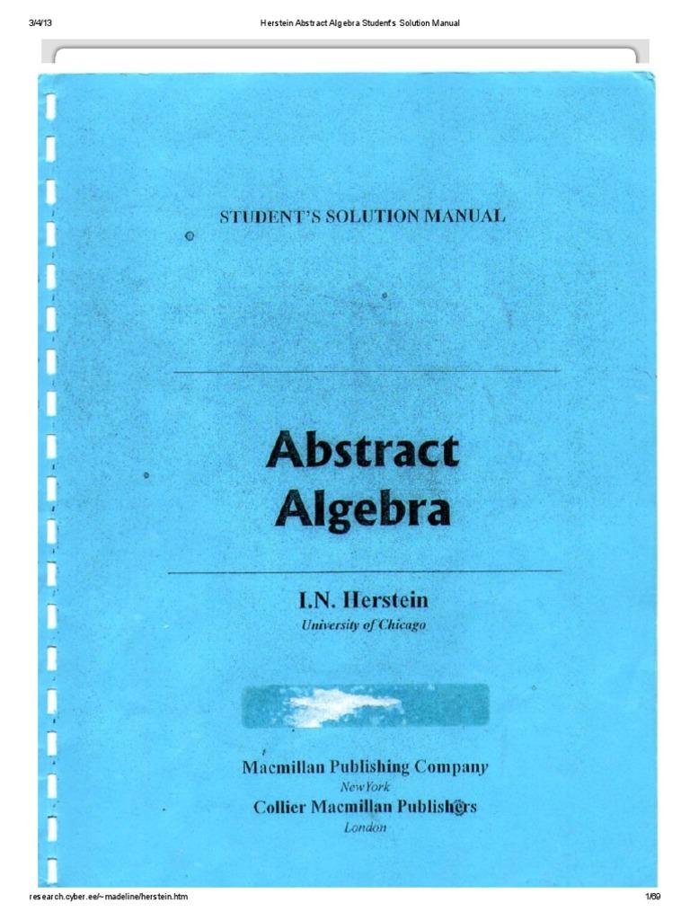 herstein abstract algebra student s solution manual rh fr scribd com Abstract Algebra Boods Abstract Algebra PDF