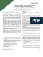 Hiperalgesia Visceral e Dor Abdominal Crônica- Abordagem Diagnóstica e Terapêutica *