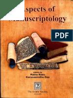 Aspects of Manuscriptology - Edited by Ratna Basu and Karunasindhu Das