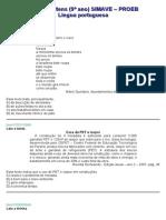 apostila língua portuguesa Proeb 9º ano