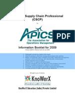 KEI APICS CSCP Information Booklet 2009.01