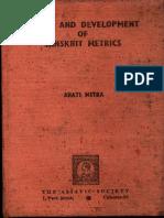 Origin and Development of Sanskrit Metrics - Arati Mitra