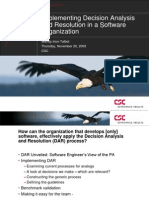 CMMI DAR Effectively Apply the Decision Analysis and Resolution (DAR) Process