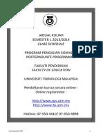 UTM Jadual Kuliah 20132014 1 Update 3.9.2013NEW