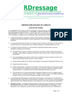 Waiver and Release of Liability