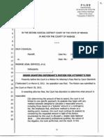 5 9 12 2JDC Elliott's Order Granting WLS Sternlicht's Mtn for Atty Fees CV11-01955-2879211 (Ord Granting Mtn ...)