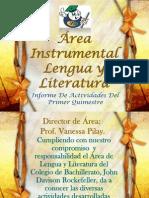 Informe área instrumental