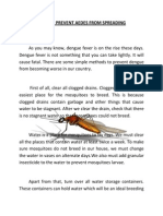 How to Prevent Aedes From Spreading