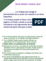 ELABORACIÓN DE ENSAYO  CUSACQ - copia