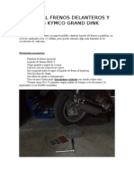 Manual Frenos Kymco Grand Dink