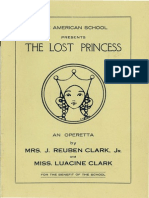 "Playbill for ""the Lost Princess"" - 1932"