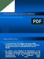 Características de los DBMS
