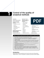 Control of the Quality of Analytical Methods