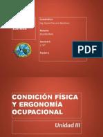 3.1 CONDICIONES FÍSICAS Y ERGONOMÍA OCUPACIONAL.