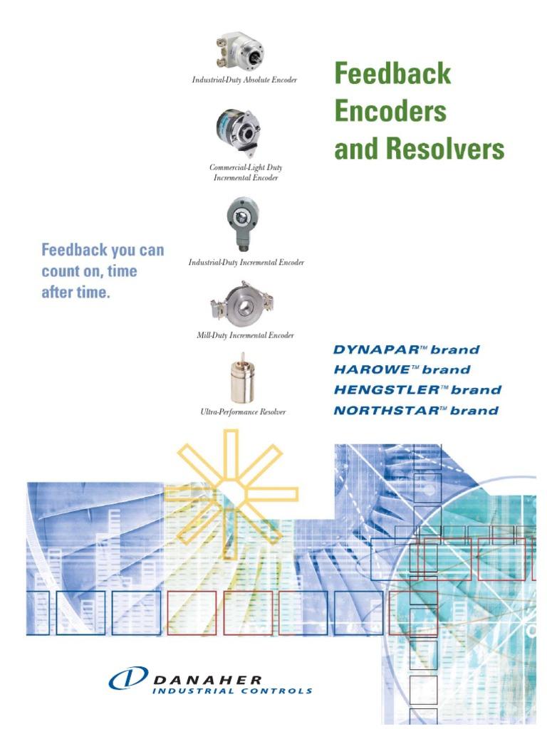 E14 Dynapar Encoder Wiring Diagram Schematic Diagrams S Video Connector Feedback Line Brochure 4 7 05 Servomechanism Electrical Engineering