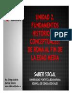 Unidad 2 Fundamentos históricos y conceptuales De Roma al fin de la Edad Media