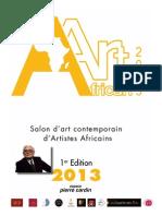Dossier Presse African'art 2013 (Paris)