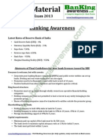 General Awareness IBPS PO Clerk Exam 2013 Www.bankingawareness