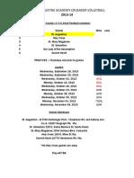 SAA 2013 Football Schedule