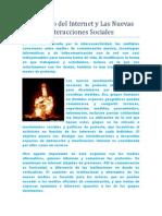 El Mundo Del Internet y Las Nuevas Interacciones Sociales