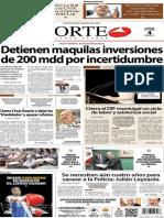 Periodico Norte de Ciudad Juárez 4 de Octubre de 2013