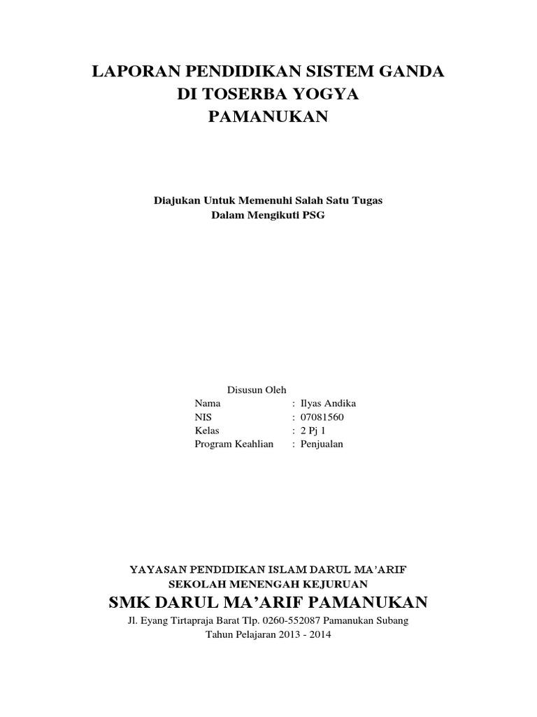 Download Laporan Psg Pkl Prakerin Smk Kejuruan