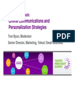 1 Online Comms & Personalization