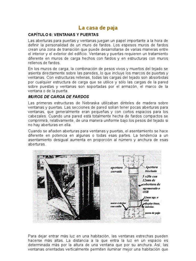 La Casa de Paja-capitulo 6- Puertas y Ventanas
