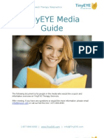 TinyEYE Online Speech Therapy Media Guide