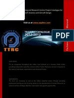 Technology Training and Research Centre Project Catalogue for Aircraft Avionics