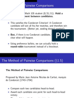 Method of Pairwise Comparison