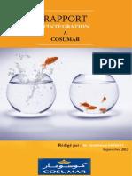 Rapport d'intégration